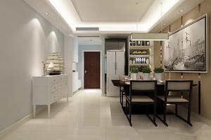 新中式风格两居室室内餐厅背景墙装修效果图赏析