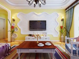 地中海风格色彩混搭大户型室内装修效果图