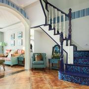 地中海风格复式楼楼梯装修效果图赏析