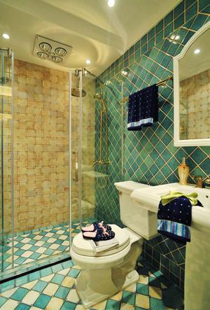 地中海风格大户型卫生间瓷砖装修效果图赏析