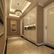 欧式风格别墅室内过道吊顶设计装修效果图