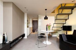 后现代风格小复式楼楼梯设计装修效果图