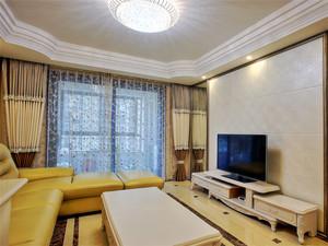 69平米简欧风格一居室小户型室内装修效果图