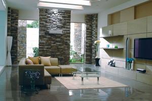 现代简约风格时尚创意客厅装修效果图