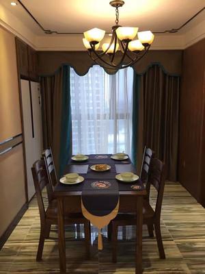 复古美式风格餐厅窗帘装修效果图赏析