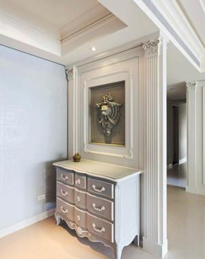 139平米现代美式风格纯净温馨大户型室内装修效果图