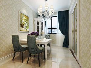 欧式风格三居室室内餐厅吊灯设计装修效果图赏析
