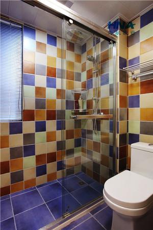 119平米美式混搭风格两室两厅室内装修效果图