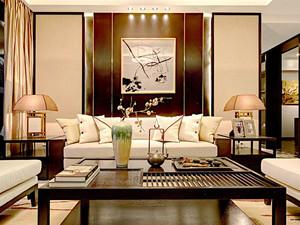 137平米中式风格精美三室两厅室内装修效果图案例