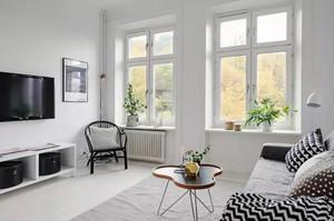 40平米北欧风格简约自然单身公寓装修效果图