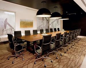60平米后现代风格精致会议室装修效果图