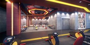 200平米现代风格精致健身房设计装修效果图