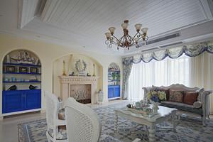 156平米地中海风格三室两厅室内装修效果图