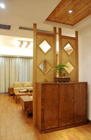 东南亚风格两居室室内玄关隔断设计装修效果图赏析