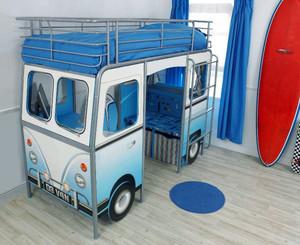 现代简约风格时尚创意汽车儿童房设计装修效果图