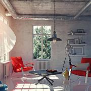 后现代风格别墅室内客厅设计装修效果图