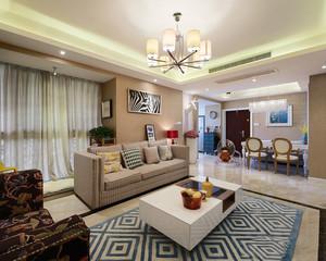 96平米时尚混搭风格两室两厅室内装修效果图案例