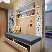 简欧风格两居室室内客厅隔断装修效果图赏析