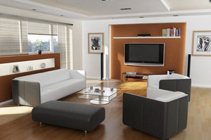 现代简约风格精美客厅电视背景墙装修效果图大全