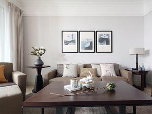 115平米现代美式风格三室两厅室内装修效果图案例