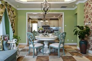 160平米美式田园风格唯美自然三室两厅是你装修下给他