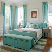 清新美式风格大户型卧室装修效果图鉴赏