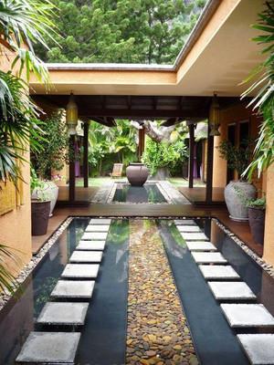 东南亚风格别墅入户花园装修效果图赏析