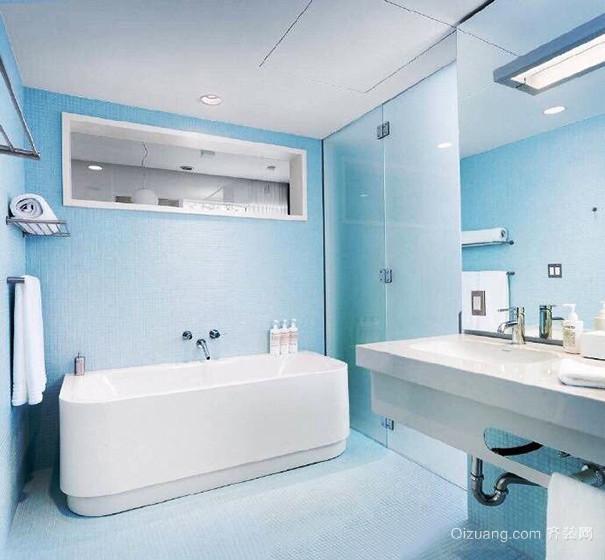 简约风格唯美浪漫浅蓝色卫生间装修效果图大全