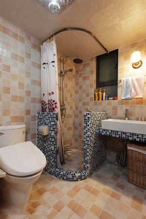 8平米地中海风格卫生间瓷砖装修效果图赏析