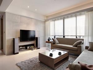 80平米现代风格两室两厅一卫装修效果图案例