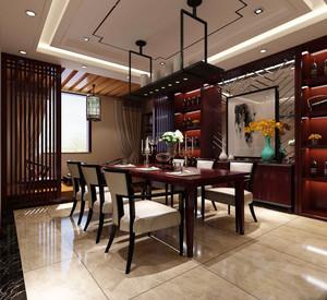 中式风格大户型室内餐厅吊顶设计装修效果图赏析