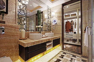 中式风格大户型卫生间浴室柜装修效果图赏析