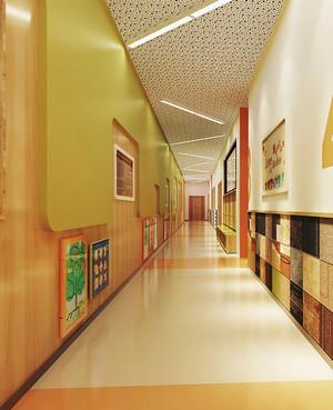 现代简约风格幼儿园过道环境布置装修效果图