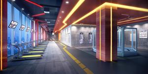 200平米现代风格健身房设计装修效果图