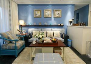 地中海风格小户型客厅背景墙装修效果图赏析