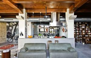 146平米现代工业风格loft装修效果图案例