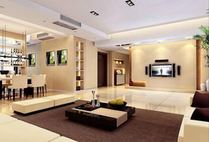 现代简约风格大户型客厅背景墙装修效果图赏析