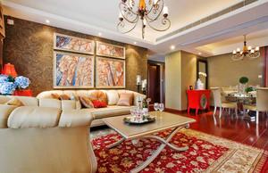 109平米浪漫法式风格两室两厅一卫装修效果图案例
