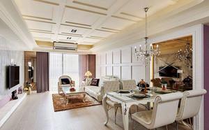 清新欧式风格三室两厅室内设计实景图赏析