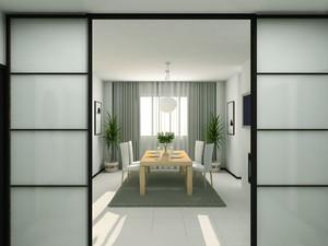 日式风格大户型室内餐厅推拉门装修效果图赏析