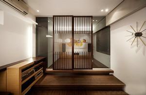 日式风格大户型进门玄关隔断设计装修效果图赏析
