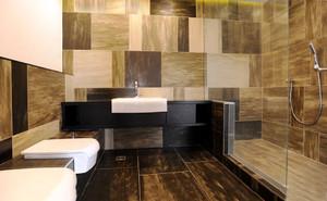 现代风格精致卫生间瓷砖装修实景图