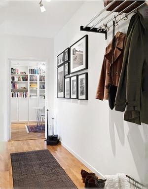现代风格小户型室内玄关鞋柜设计装修效果图