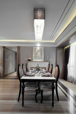 240平米新古典主义风格别墅室内装修效果图案例