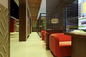 130平米后现代风格咖啡厅设计装修效果图案例