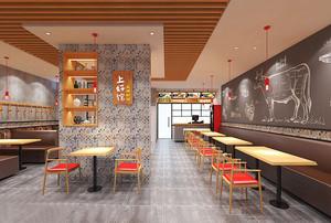 60平米现代简约风格快餐店设计装修效果图赏析