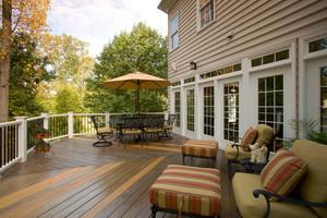 美式风格别墅露天阳台设计装修效果图赏析