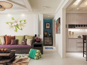119平米东南亚风格三室两厅室内装修效果图赏析