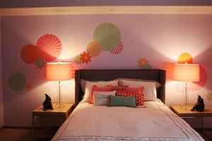 美式风格大户型室内儿童房卧室背景墙装修效果图
