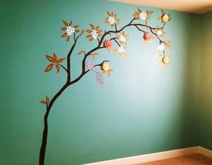 现代简约风格儿童房手绘墙装修效果图